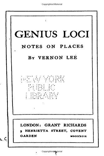 Genius Loci, Notes on Places