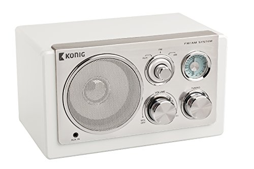 König TR1200Retro da tavolo radio bianco