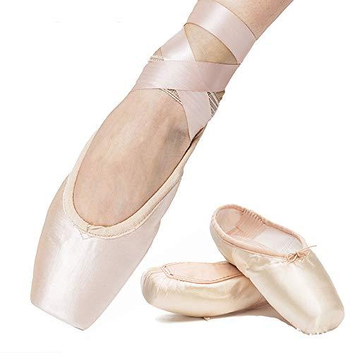 Xuanbao Zapatilla de Baile Pink Ballet Pointe Shoes Zapatilla de Ballet Profesional (Niño/Niño pequeño/Niño Grande/Mujeres / Niño) (tamaño : 41 1/3 EU)