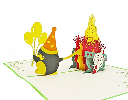 Fröhliche Geburtstagskarte für Glückwunsch & Jubiläum - hochwertige 3D Pop-Up Karte zur Gratulation zum Geburtstag - tolle Glückwunschkarte für Geburtstags-Grüße