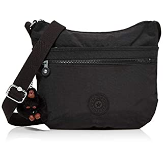 Kipling Arto Shoulder Bag for Women, 29 x 26 x 4 cm Black Size: One Size