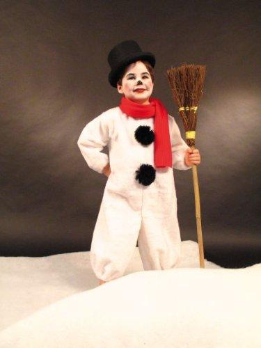 Kind Schneemann Kostüm - Festartikel Müller Karneval Kinder Kostüm Schneemann Overall mit Schal Größe 98/104