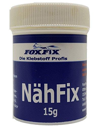 15g Nähfix - Das Deutsche Nähpulver - Der Textilkleber um Aufbügeln von Flicken