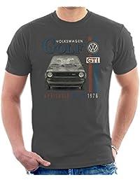 Volkswagen Golf GTI Racing Distressed Men's T-Shirt