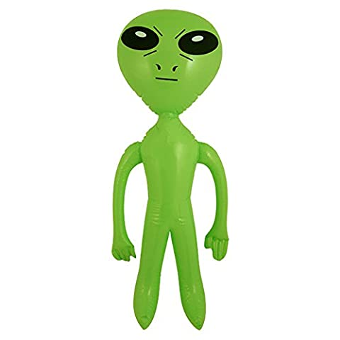Inflatable Blow Up Green 64 cm Alien Space Ship Party Accessory (Green) by Other