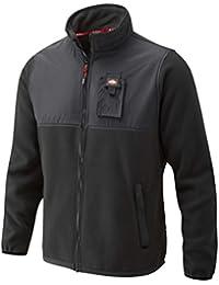 Lee Cooper LCJKT405 BLACK S - Hombres Chaqueta Polar Fleece - Negro, Pequeño