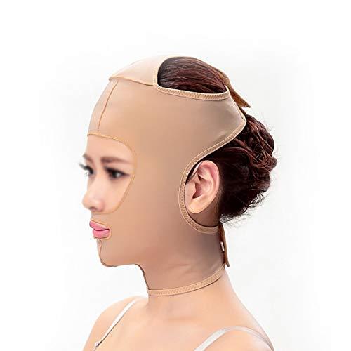 SXZHSM Gewichtsverlust Gürtel Maske Gesichtsmaske Gehen Sie zu Holy Pattern Lift Double Chin Firming Facial Plastic Facial Artefakt Kraftvoller Gesichtsverband Gesichtsformungsmaske (Size : XL)