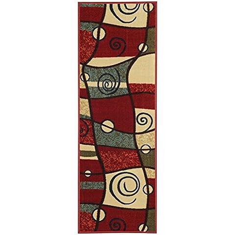 Parte trasera de goma Gran área alfombra antimicrobios Perfil Bajo XL Rugs 9'10