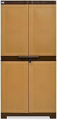 Nilkamal Freedom Mini 18 (FMSC18) Plastic Shoe Cabinet (Sandy Brown & Dark Br