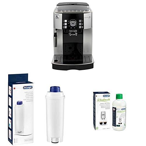 De'Longhi Magnifica S ECAM Kaffeevollautomat, silber/schwarz + Wasserfilter + EcoDecalk Entkalker, Universal Kalklöser für 4 Entkalkungsvorgänge