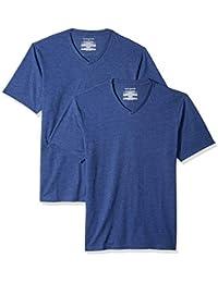 Amazon Essentials – Camiseta con cuello en V para hombre (2 unidades)