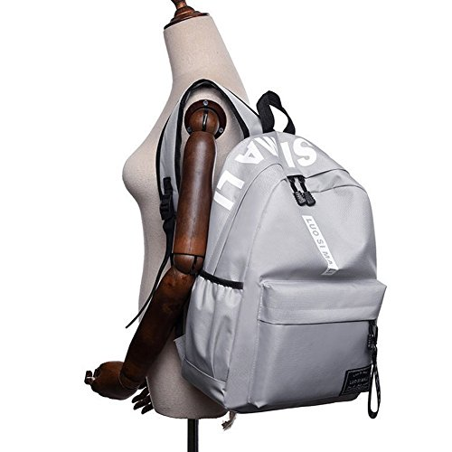 Schulstudent-großer Rucksack-Buch-Taschen-Reise-Laptop-Rucksack für College-mittlerer hoher Student,große Kapazität, Oxford-Gewebe-Rucksack, Wasserbeständigkeit, Sport im Freien, Grau