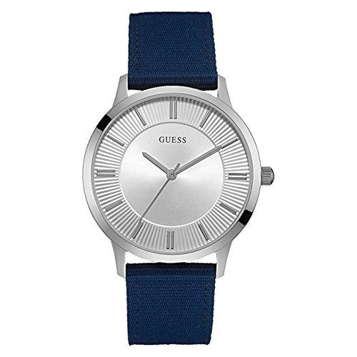 Guess W0795G4 - Reloj de lujo para hombre, color plateado/azul