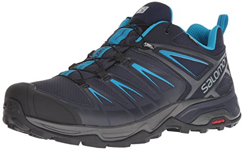 SALOMON Herren X Ultra 3 GTX Men Trekking-& Wanderhalbschuhe, Grau (Graphite/Night Sky/Hawaiian Surf 000), 41 1/3 EU