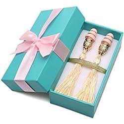 Sarcillo con borla en caja de regalo (Amarillo Imperial)