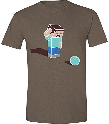 Minecraft - Confused Steve Brown Braun T-Shirt Men / Herren - Size / Größe XL