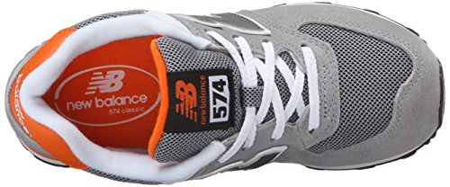New Balance Unisex-Kinder Kl574p1p Schnürhalbschuhe Grau - Gris (Grey/Orange/058)