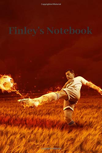 Finley's Notebook: Personalised Football Cover Notebook | 160 Ruled Pages | 6x9 Journal | Paperback Diary | Glossy Finish por Nikki J Dalby