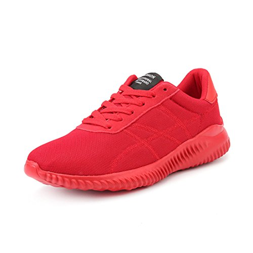 Men's Zapatillas Hombre Flat Lace Up Running Shoes red