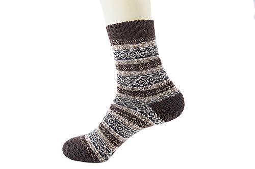 Crew Heavyweight Crew Socken (LIUYUNE,10 Pairs Dress Winter Warm Thick Heavyweight Socken Work Crew Socken für Frauen und Männer(Color:Kaffee,Size:Eine Größe))