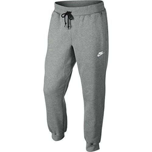 Nike Herren Hose AW77 Cuffed Fleece, Grau (Dark Grey Heather/White), L, 598871-063 Grau Fleece