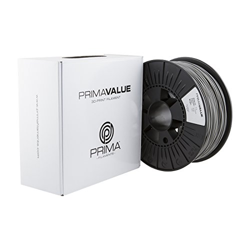 Prima Filaments PV-PLA-175-1000-LGY PrimaValue PLA Filament für 3D-Drucker, 1.75 mm, 1 kg Spule, Hell Grau