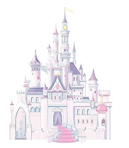 RoomMates RMK1546GM RM - Disney Prinzessinenschloss Wandtattoo, PVC, Bunt, 48 x 13 x 2.5 cm