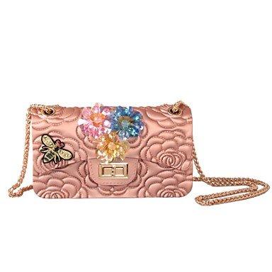 L. in West Frauen's Elegante Hochwertige handgefertigte Diamanten Silica Gel Abend Tasche Blushing Pink