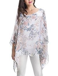 Laura Moretti - Blusa de seda estilo oversized con estampado floral