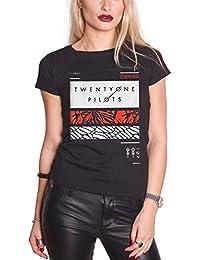 Twenty One Pilots 21 T Shirt Filler Bars Clique Logo Official Womens Skinny Fit