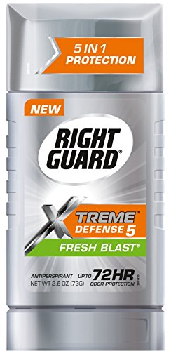 Right Guard Anti-Perspirant & Deodorant Invisible Solid, Fresh Blast, 2.6 oz (Pack Of 6) by right Guard