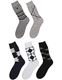 Klair Men's Multicolor Crew Length Socks (Pack Of 5)