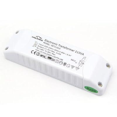 Eaglerise Elektronischer Halogen Trafo AC230V auf AC 12V 50W-210W Trafo Transformer Transformator Treiber für NV-Halogen Lampe