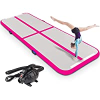 Sports Training fbsport Gym Mat Tumbling Airtrack Inflatable Mattresses Gymnast Air Training Track Pad for Cheerleader 118x39 or118 x20 Beach-Tax Included