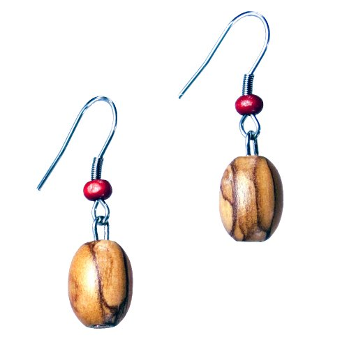 simple-olive-wood-bead-earrings-with-red-fair-trade