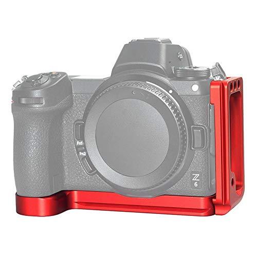 VBESTLIFE L-förmige Schnellwechselplatte, 1/4-Zoll-Loch-Aluminiumlegierungs-Befestigungswinkel Stativ-Kugelkopf-Zubehör für die Nikon Z7 Z6-Kamera(rot)