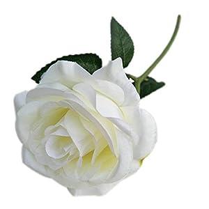 Demarkt Künstliche Rose Blumen Seidenrosen Deko Gefälschte Blumen für Wohnaccessoires Deko Weiss