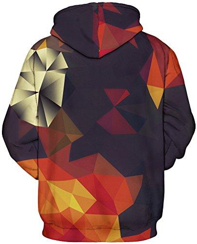 TDOLAH 3D Unisexe Sweatshirts Galaxy Cordon Imprimé Poches Noël Sweater capuche Hoodie Plus Velours Géométrique-1