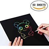 LIWUTE Scratch Art Rainbow Scratch Kunstdruckpapier Magic Painting Papier Scratch Boards