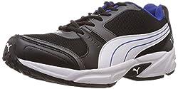 Puma Mens Argus DP Black, Dark shadow, White and Limoges Mesh Running Shoes - 7 UK/India (40.5 EU)