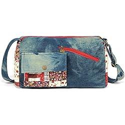 Chang Spent La Sra NEGRO mariposa del estilo popular del vaquero bolsa de hombro diagonal del paquete , b