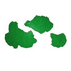 Magideal 3Pcs Art Texture Rubber Painting Tool Net Shape Pattern DIY Wall Decor Green