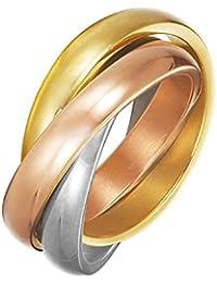 Esprit Damen-Ring Edelstahl Ohne trinity multi weiß ESRG12477A180