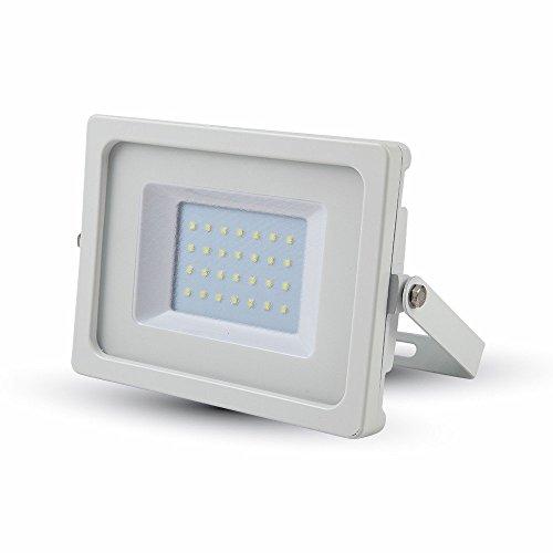 V-TAC vt-4830 30 W LED à + Blanc Projecteur – Projecteur à LED, couleur : blanc, IP65, couleur : blanc, Aluminium, ce, EMC)