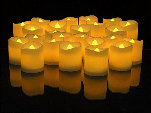 24 unds velas led luz parpadeante para decoracion de eventos fiestas Navidad de OPEN BUY