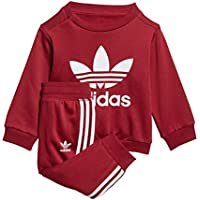 Adidas I W TRF Crew - Chándal, Bebé, Rojo(Buruni/Blanco)