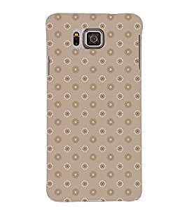ETHNIC BROWN AND WHITE FLORAL PATTERN 3D Hard Polycarbonate Designer Back Case Cover for Samsung Galaxy Alpha G850