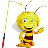 Unbekannt Set: Laterne / Lampion + LED Laternenstab - die kleine Biene Maja - für Kinder - Papierlaterne aus Papier - Lampe - Laternen Lampions - Figur - elektrischer L..