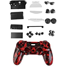 Kit Cáscara Cubierta Funda Protectora Botón Para Mando PS4 Playstation4 Rojo