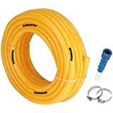 GARBNOIRE Flexible 0.5 inch & 10 Mt Long Garden Water Pipe/PVC Pipe/Car and Bike wash Pipe with Hose Connector